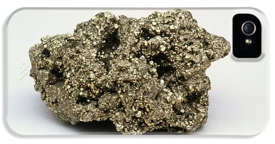 Fool's Gold IPhone 5 Case featuring the photograph Nugget Of Fool's Gold, Iron Pyrites by Kaj R. Svensson