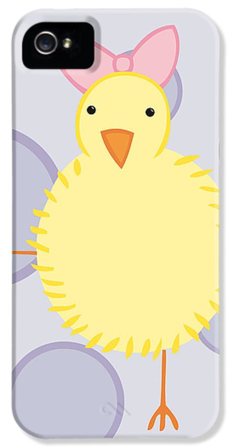 Baby IPhone 5 Case featuring the drawing Nursery Art Baby Bird by Christy Beckwith