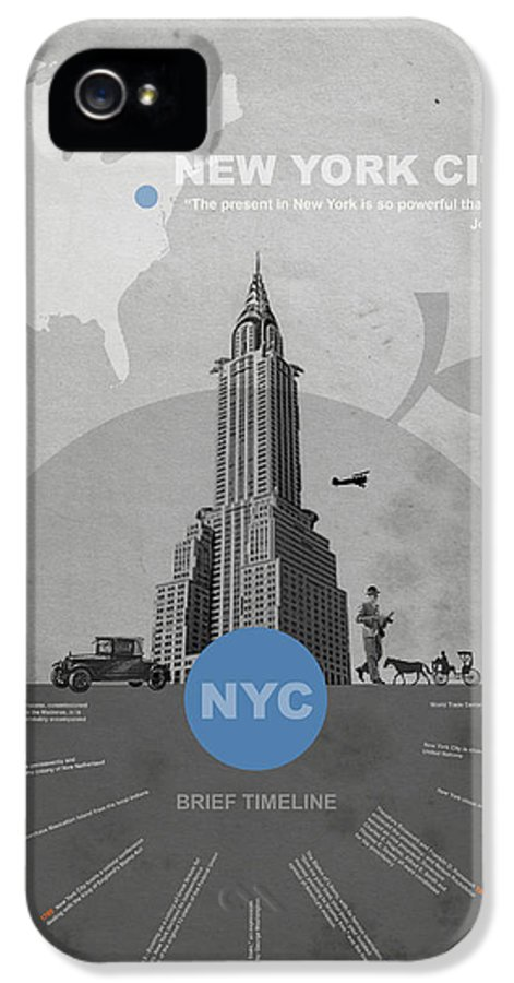 New York IPhone 5 Case featuring the photograph Nyc Poster by Naxart Studio