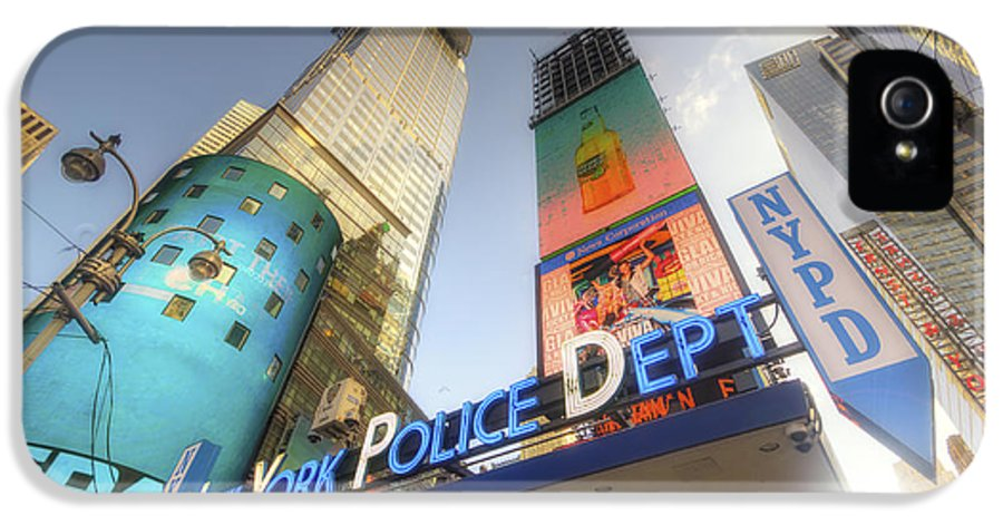 Art IPhone 5 Case featuring the photograph Nypd Station by Yhun Suarez