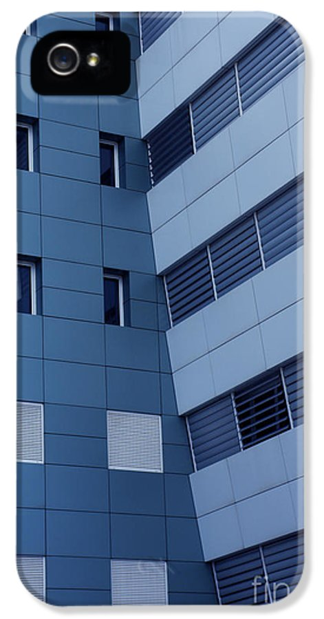Abstract IPhone 5 Case featuring the photograph Office Building by Carlos Caetano