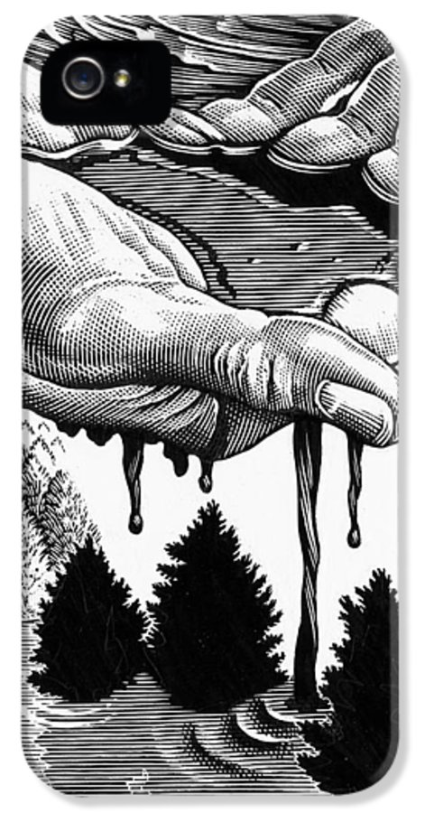 Hand IPhone 5 Case featuring the photograph Oil Pollution by Bill Sanderson