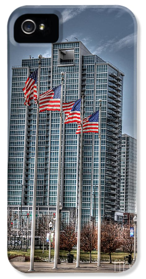 Chicago Illinois IPhone 5 Case featuring the photograph Old Glory by David Bearden