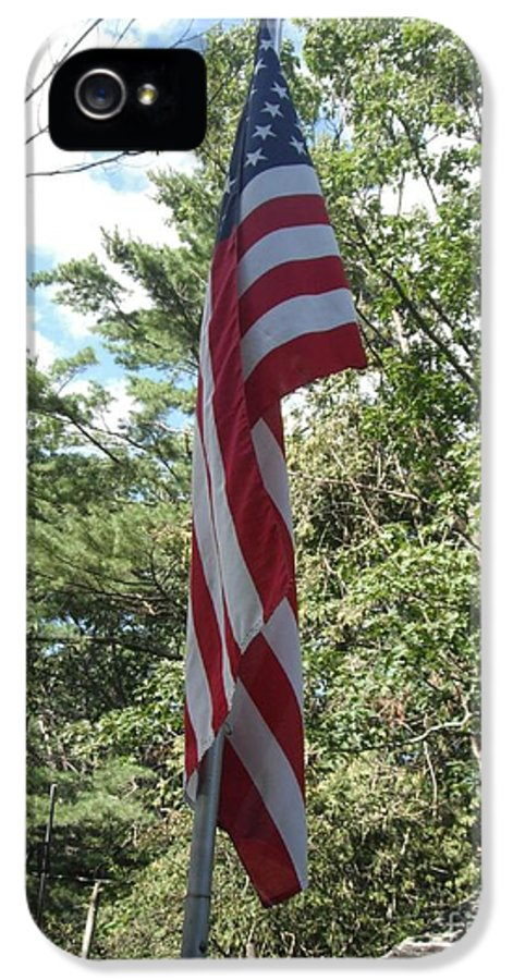 Jordan Allen IPhone 5 Case featuring the photograph Old Glory by Jeannie Atwater Jordan Allen