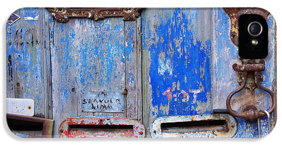 Aged IPhone 5 Case featuring the photograph Old Mailboxes by Carlos Caetano