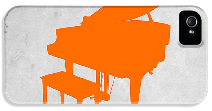 Piano IPhone 5 Case featuring the photograph Orange Piano by Naxart Studio