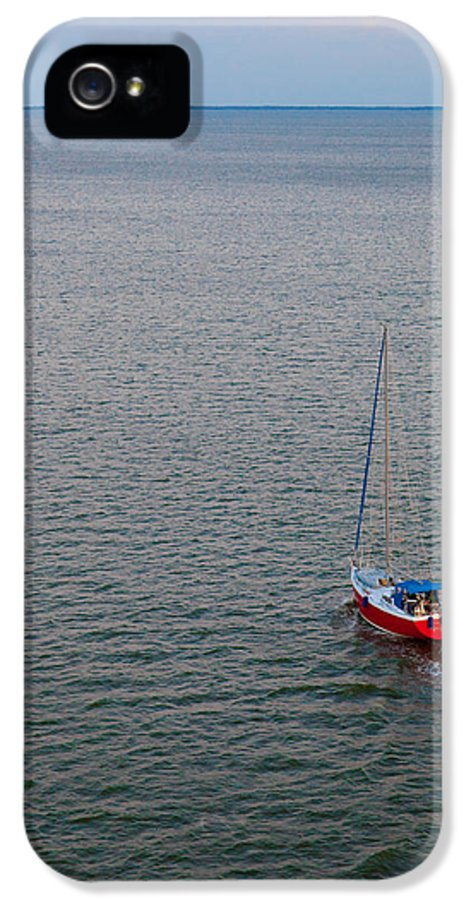 Boat IPhone 5 Case featuring the photograph Out To Sea by Chad Dutson