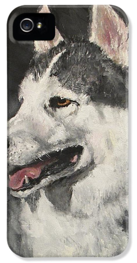 Dog IPhone 5 Case featuring the painting Ozzie by Jack Skinner