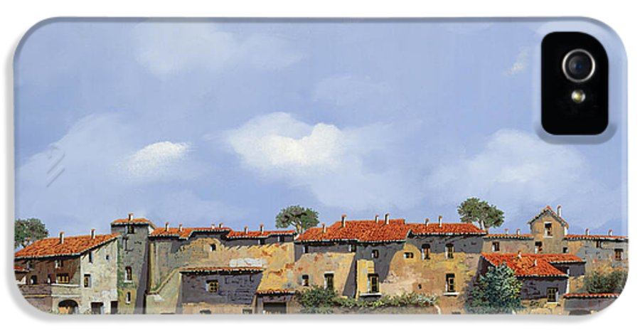 Italy IPhone 5 Case featuring the painting Paesaggio Aperto by Guido Borelli