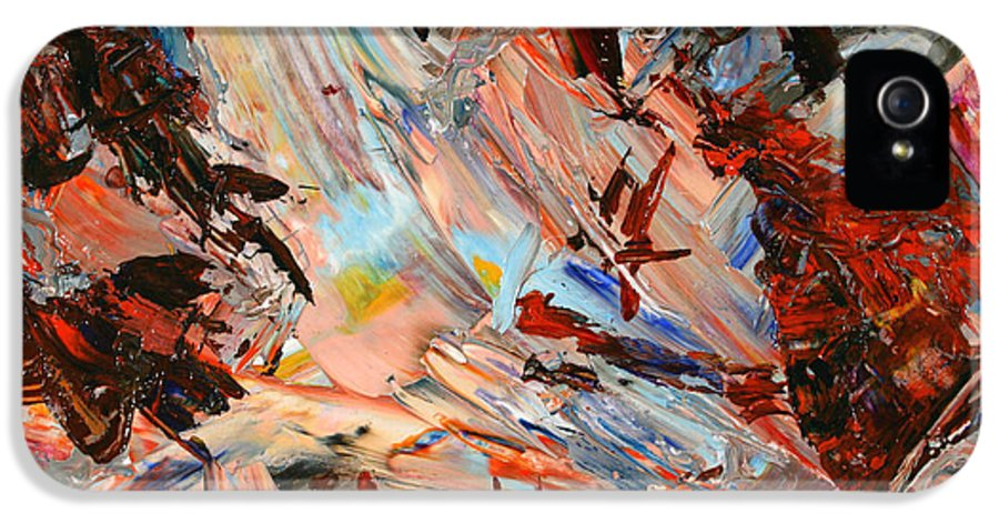 Abstract IPhone 5 Case featuring the painting Paint Number 36 by James W Johnson