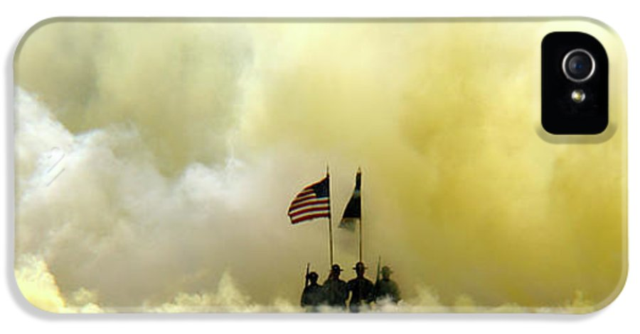Army IPhone 5 Case featuring the photograph Panoramic Us Army Graduation by Michael Waters