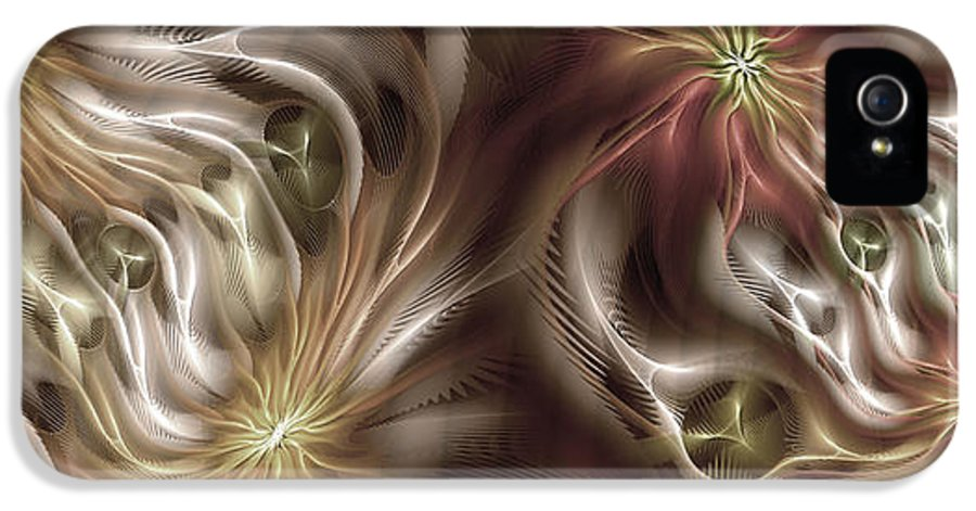 Abstract IPhone 5 Case featuring the digital art Parallelism 2 by Casey Kotas