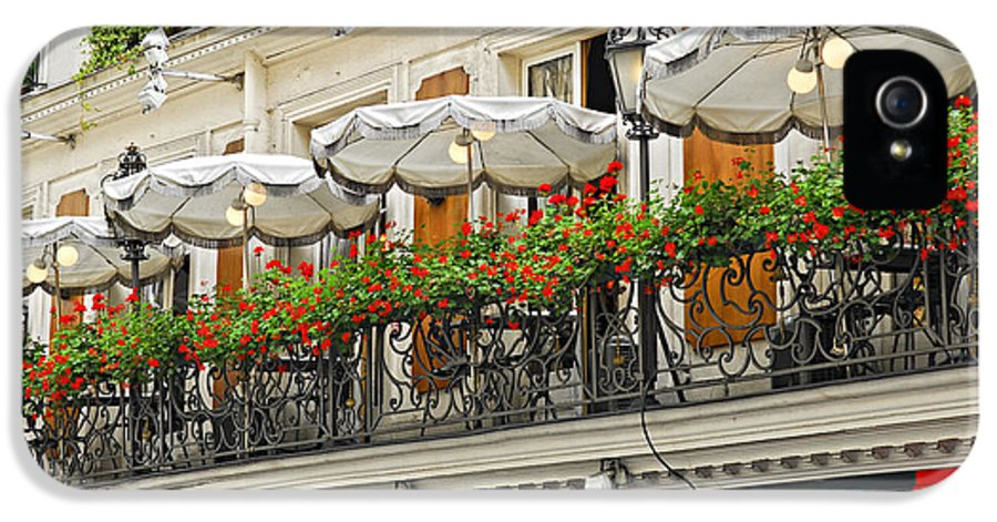 Architecture IPhone 5 Case featuring the photograph Paris Cafe by Elena Elisseeva