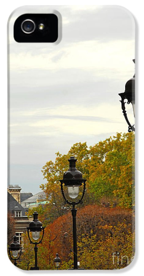 Building IPhone 5 Case featuring the photograph Paris Street by Elena Elisseeva