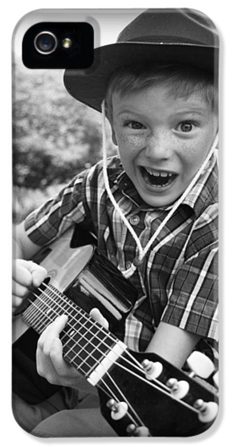 Guitar IPhone 5 Case featuring the photograph Pickin' by Kelly Hazel