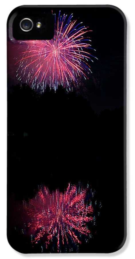 4th Of July IPhone 5 Case featuring the photograph Pink Fireworks by James BO Insogna