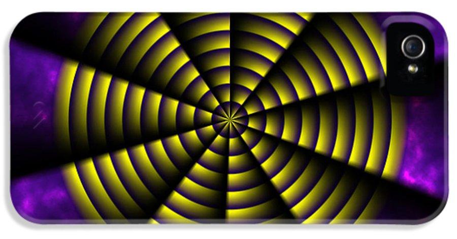 Pinwheel IPhone 5 Case featuring the painting Pinwheel by Christopher Gaston