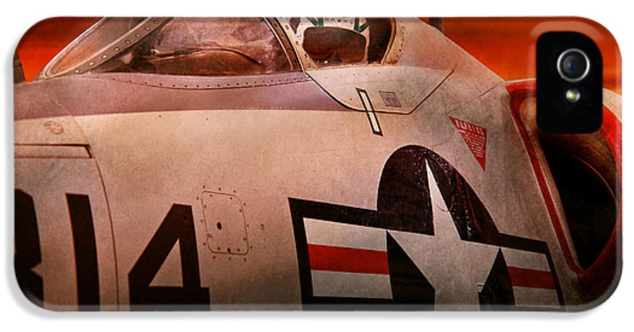 Plane IPhone 5 Case featuring the photograph Plane - Pilot - Airforce - Go Get Em Tiger by Mike Savad
