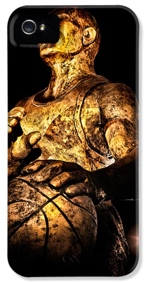 Basketball IPhone 5 Case featuring the photograph Player In Bronze by Christopher Holmes