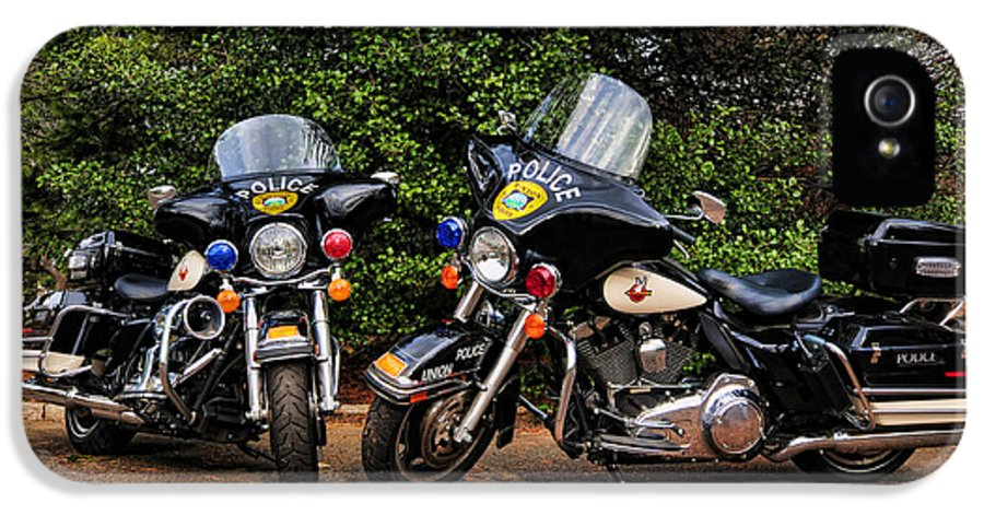 Police Bike IPhone 5 Case featuring the photograph Police Motorcycles by Paul Ward
