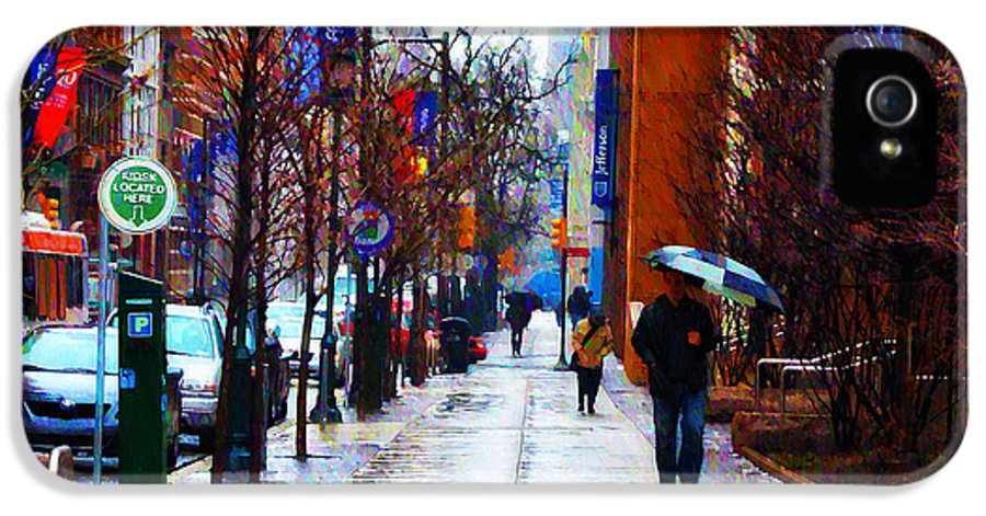 Rainy Day Feeling IPhone 5 Case featuring the photograph Rainy Day Feeling by Bill Cannon
