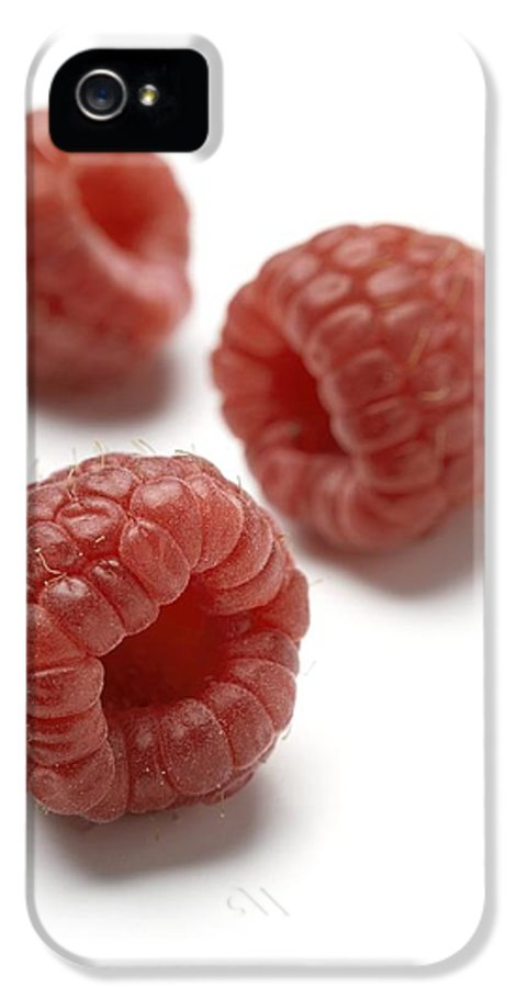 Cut Out IPhone 5 Case featuring the photograph Raspberries by Jon Stokes