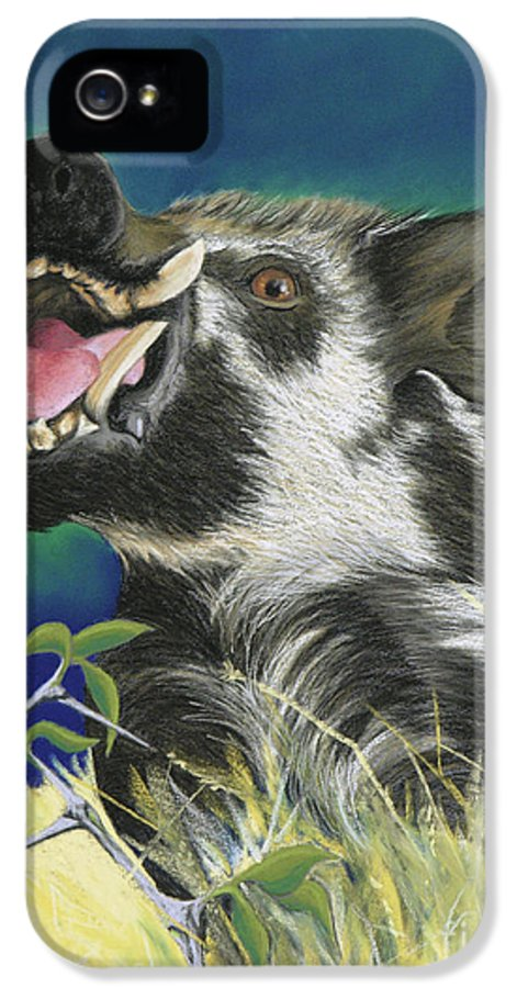 Arkansas IPhone 5 Case featuring the pastel Razorback by Tracy L Teeter