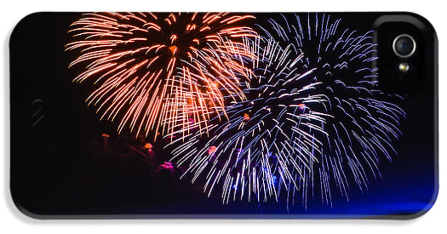Fireworks IPhone 5 Case featuring the photograph Red White And Blue by Robert Bales