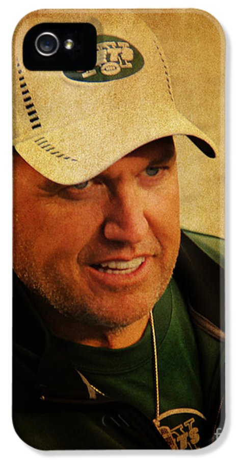 Lee Dos Santos IPhone 5 Case featuring the photograph Rex Ryan - New York Jets by Lee Dos Santos