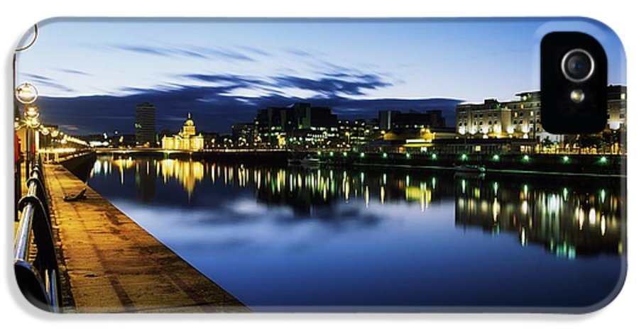 Architectural Detail IPhone 5 Case featuring the photograph River Liffey, Sunset, View Of Customs by The Irish Image Collection