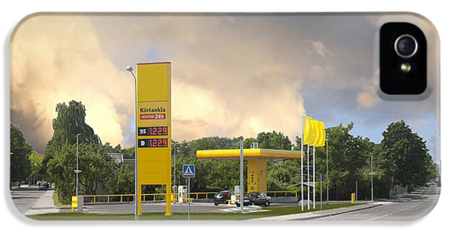 Business IPhone 5 Case featuring the photograph Roadside Gas Station by Jaak Nilson