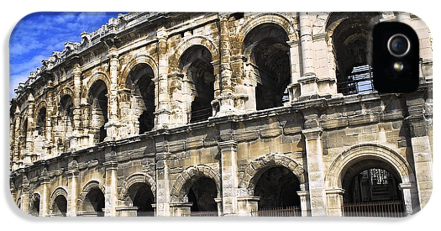 Nimes IPhone 5 Case featuring the photograph Roman Arena In Nimes France by Elena Elisseeva