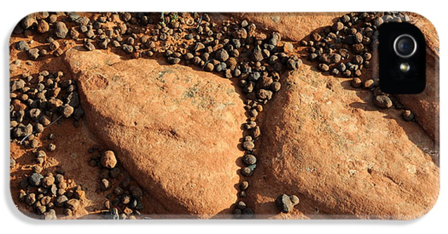Rock IPhone 5 Case featuring the photograph Sandstone And Pebbles by Gary Whitton