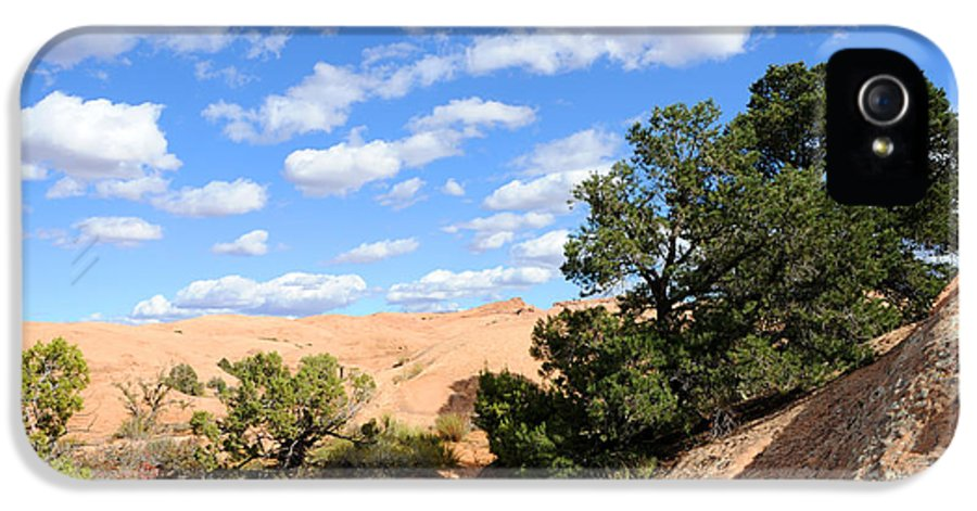 Sand IPhone 5 Case featuring the photograph Sandstone Sky by Gary Whitton