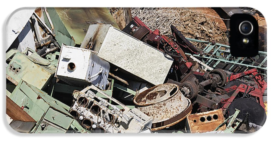 Business IPhone 5 Case featuring the photograph Scrap Metal In Scrap Yard by Jeremy Woodhouse