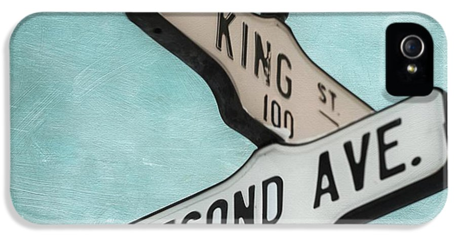 Sign IPhone 5 Case featuring the photograph second Avenue 1400 by Priska Wettstein