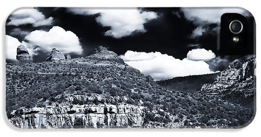 Sedona Clouds IPhone 5 Case featuring the photograph Sedona Clouds by John Rizzuto