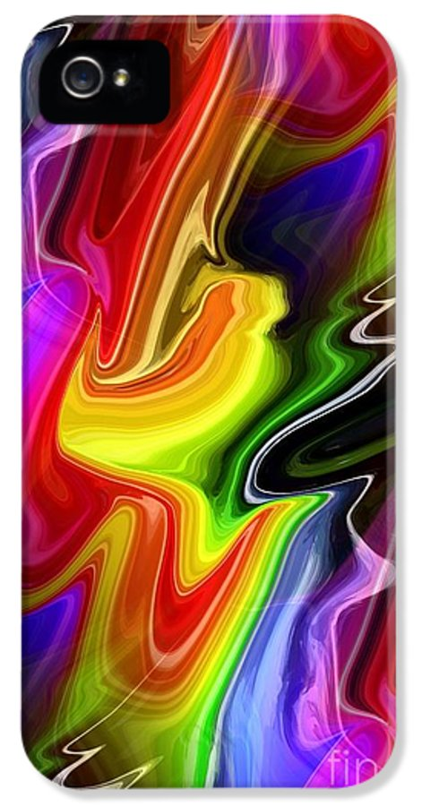 Abstract IPhone 5 Case featuring the digital art Seeds Of Doubt by Chris Butler