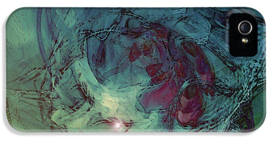 Serpent Head IPhone 5 Case featuring the digital art Serpent Head by Linda Sannuti