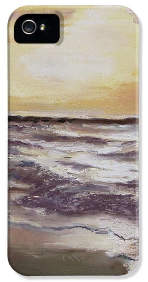 Sunset IPhone 5 Case featuring the painting Sesuit Sunset by Jack Skinner