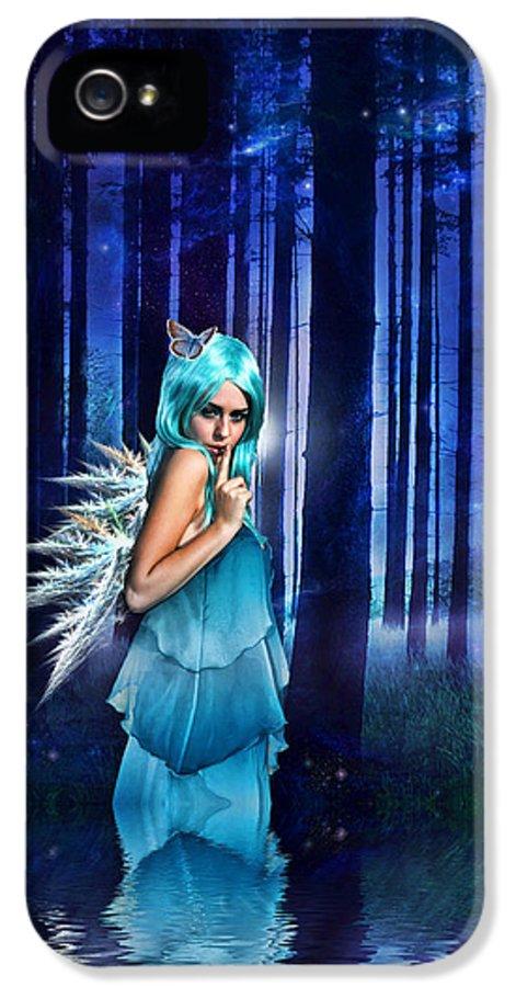 Fairies IPhone 5 Case featuring the digital art Shhhhh We Exist by Sharon Lisa Clarke