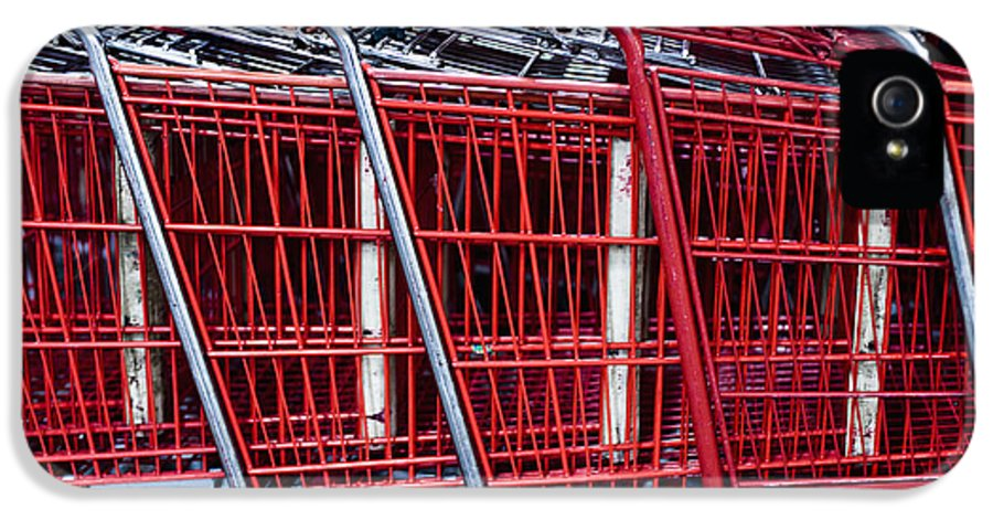 Business IPhone 5 Case featuring the photograph Shopping Carts by Sam Bloomberg-rissman