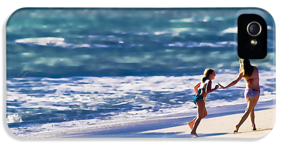 Beach IPhone 5 Case featuring the photograph Sister Fun by Patrick M Lynch