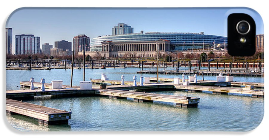 Soldier Field IPhone 5 Case featuring the photograph Soldier Field - East Side by David Bearden