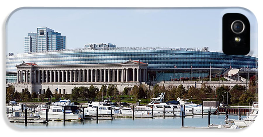 America IPhone 5 Case featuring the photograph Soldier Field Chicago by Paul Velgos