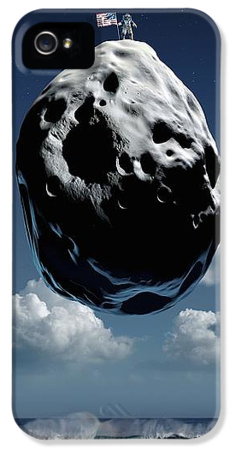 Moon IPhone 5 Case featuring the photograph Space Exploration, Conceptual Image by Detlev Van Ravenswaay