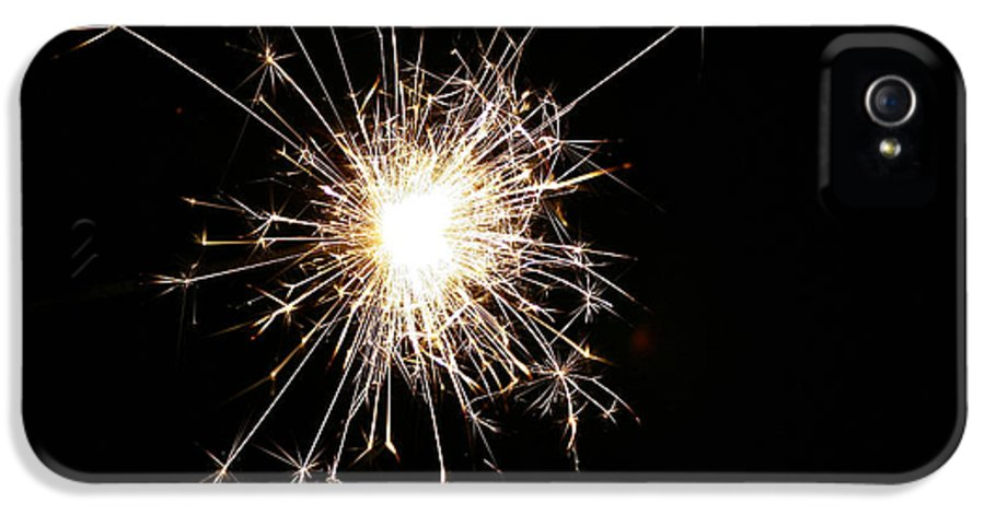 Fire IPhone 5 Case featuring the photograph Spangle by Susan Herber