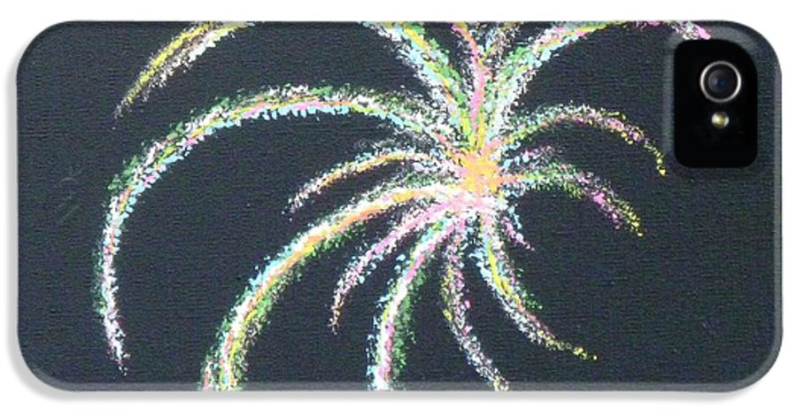 4th Of July IPhone 5 Case featuring the painting Sparkler by Alys Caviness-Gober