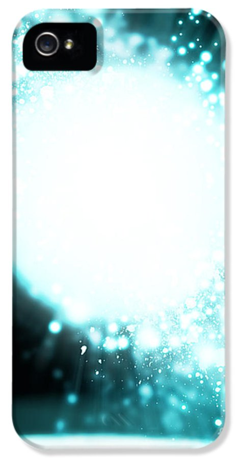 Abstract IPhone 5 Case featuring the photograph Sphere Lighting by Setsiri Silapasuwanchai