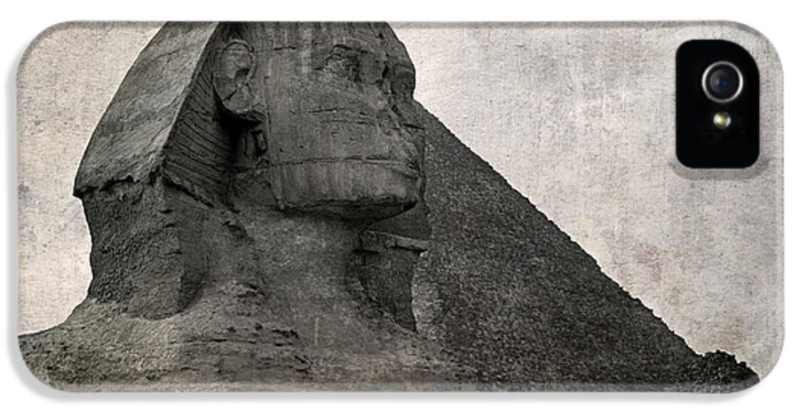 Africa IPhone 5 Case featuring the photograph Sphinx Vintage Photo by Jane Rix